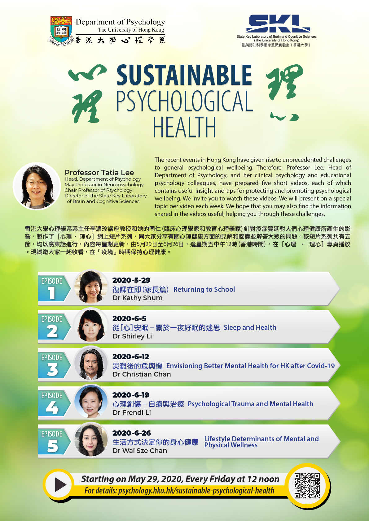 Online videos on Sustainable psychological Health